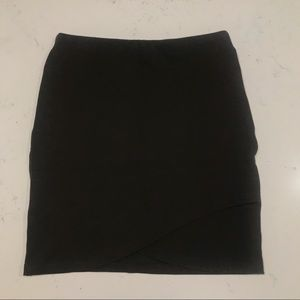 Talula Brown Asymmetrical Mini Skirt